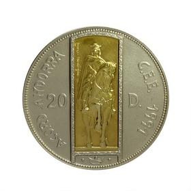 Moneda Andorra 20 Diners Oro y Plata 1995 26,30 g