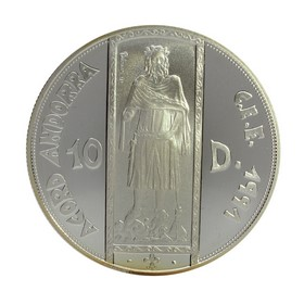 Moneda Andorra 10 Diners Plata 1994 31,30 g