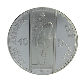 Moneda Andorra 10 Diners Plata 1995 31,44 g