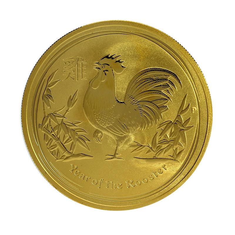 Moneda Australia 100 Dollars Año del Gallo Oro 2017 1 oz
