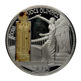 Moneda Andorra 50 Diners Oro y Plata 1995 156,50 g