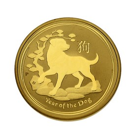 Moneda Australia 100 Dollars Año del Perro Oro 2018 1 oz