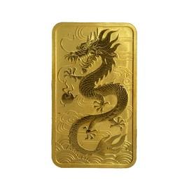 Moneda Australia 100 Dollars Dragón Rectangular Oro 2018 1 oz