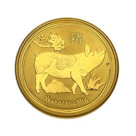 Moneda Australia 100 Dollars Año del Cerdo Oro 2019 1 oz