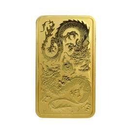 Moneda Australia 100 Dollars Dragón Rectangular Oro 2020 1 oz