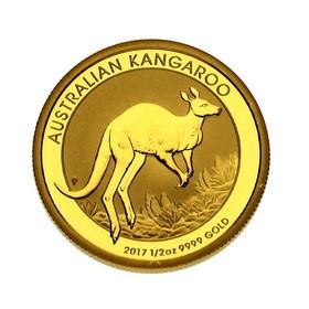 Moneda Australia 50 Dollars Canguro Oro 2017 <sup>1</sup>/<sub>2</sub> oz