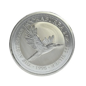 Moneda Australia 2 Dollars Kookaburra Plata 1996 2 oz