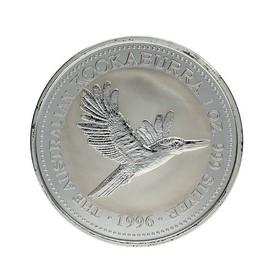 Moneda Australia 1 Dollars Kookaburra Plata 1996 1 oz