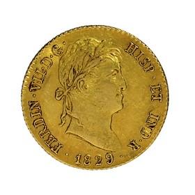 Moneda España 2 Escudos Oro 1829 Madrid AJ 6,72 g