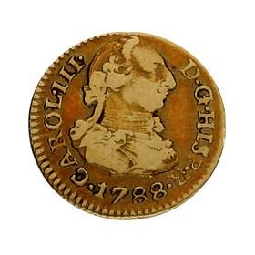 Moneda España 1/2 Escudo Oro 1788 Sevilla JC 1,71 g