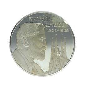 Moneda España 25 Ecus Gaudi Plata 1994 Cataluña 25 g