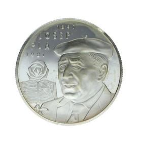 Moneda España 25 Ecus Josep Pla Plata 1994 Cataluña 25 g