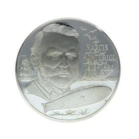 Moneda España 25 Ecus Narcis Monturiol Plata 1995 Cataluña 25 g