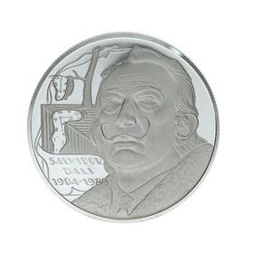 Moneda España 25 Ecus Salvador Dali Plata 1995 Cataluña 25 g