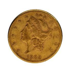 Moneda Estados Unidos 20 Dollars Oro 1882 33,40 g